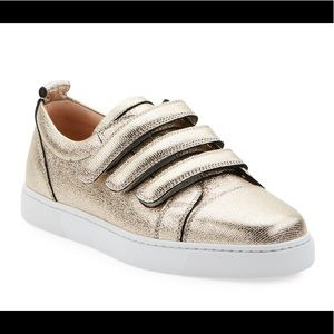 Louboutin Kiddo Donna Gold Leather Sneakers 36